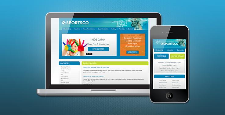 Sportsco Responsive Website Design